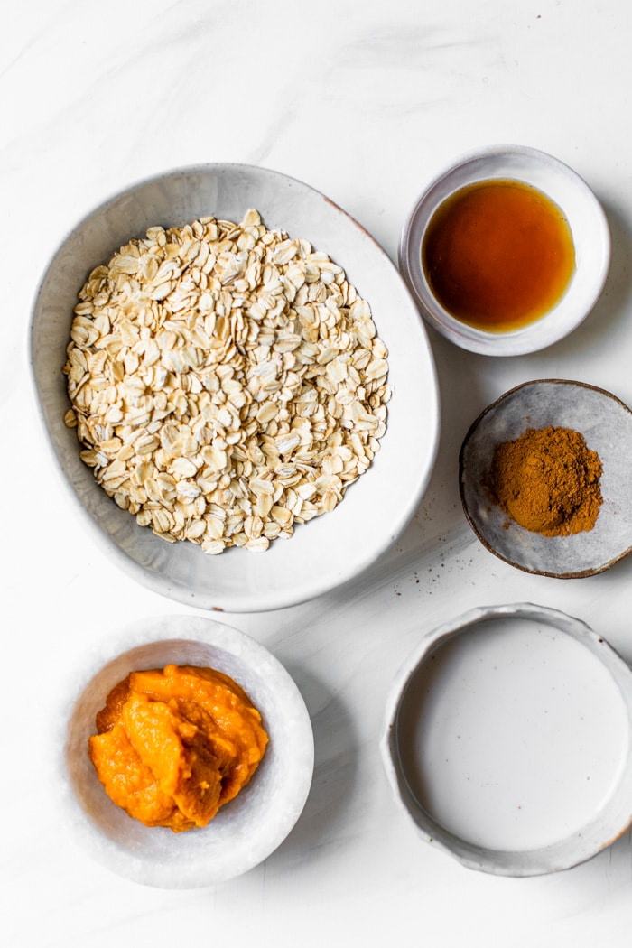 pumpkin overnight oats ingredients