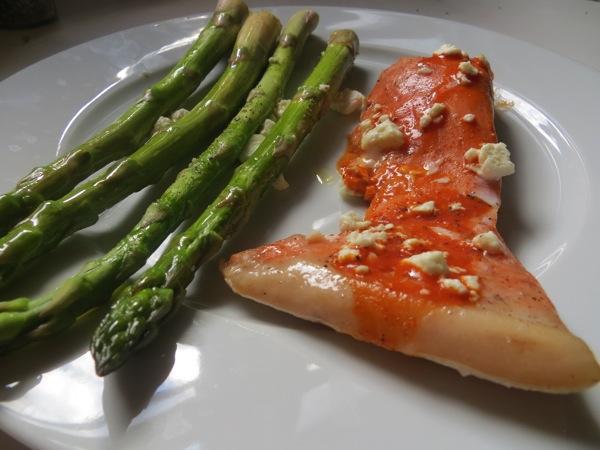 salmond and asparagus