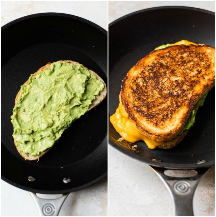 sandwich in a skillet