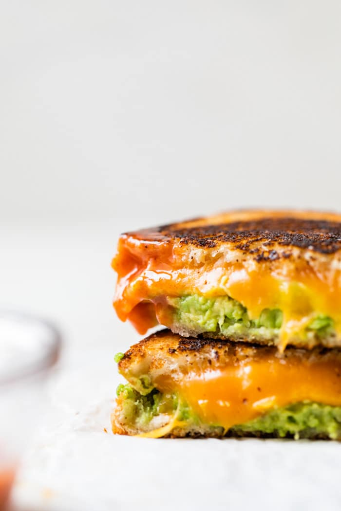 grilled cheese with buffalo sauce