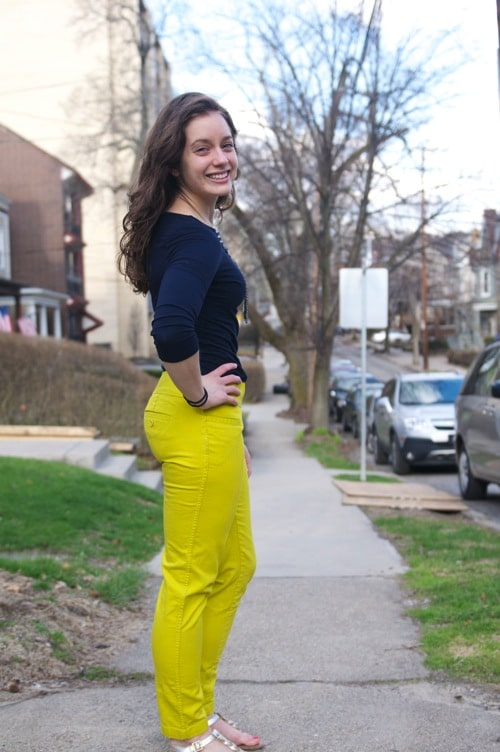 How to Wear Lime Green Pants-The Almond Eater