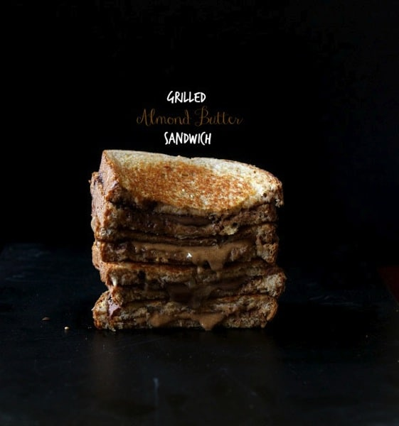 Grilled Almond Butter Sandwich-The Almond Eater