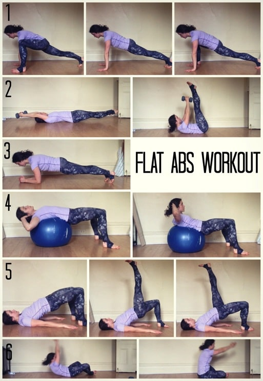 Flat Abs Workout The Almond Eater