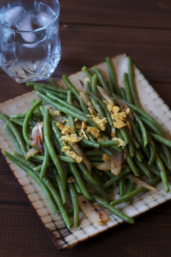 onions red pepper flakes spicy tortilla chips spicy green beans