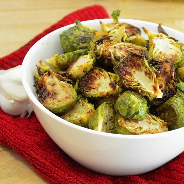 Fabulously delicious balsamic and garlic roasted brussel sprouts Theyll turn anyone into a vegetable lover 1024x1024