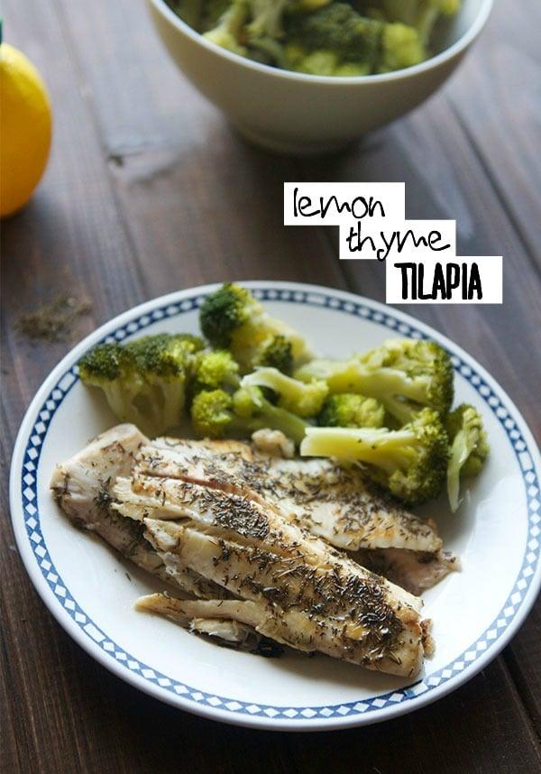 Lemon and Thyme Tilapia