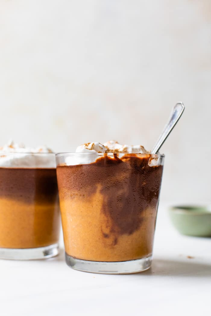 layered chocolate pumpkin pudding with cool whip
