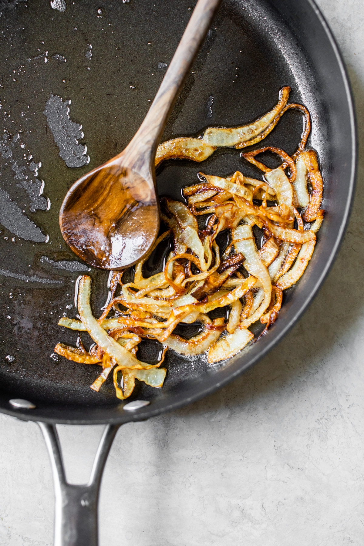 onions in a skillet