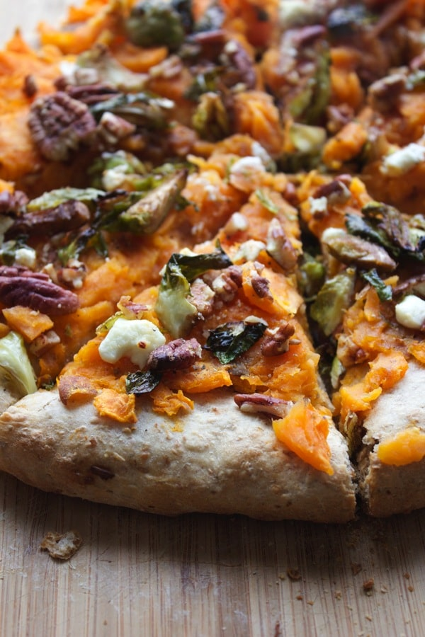 Sweet Potato Sprouts and Goat Cheese Pizza 3