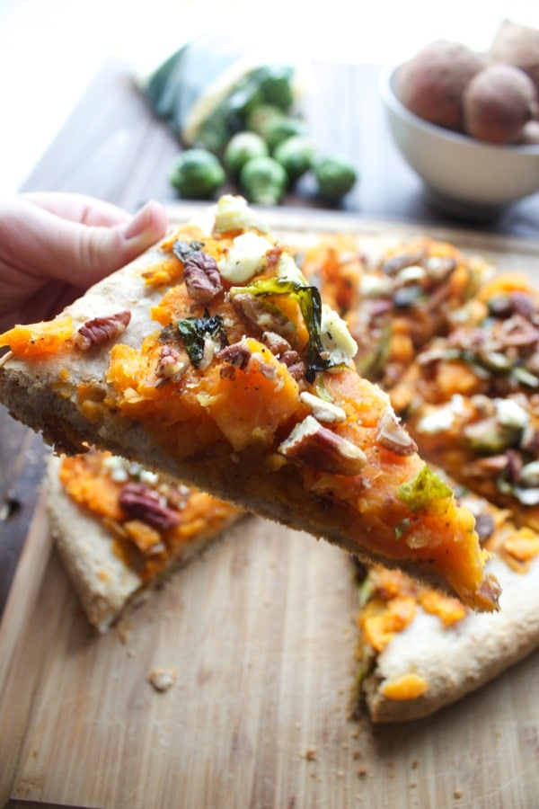 Sweet Potato Sprouts and Goat Cheese Pizza 6