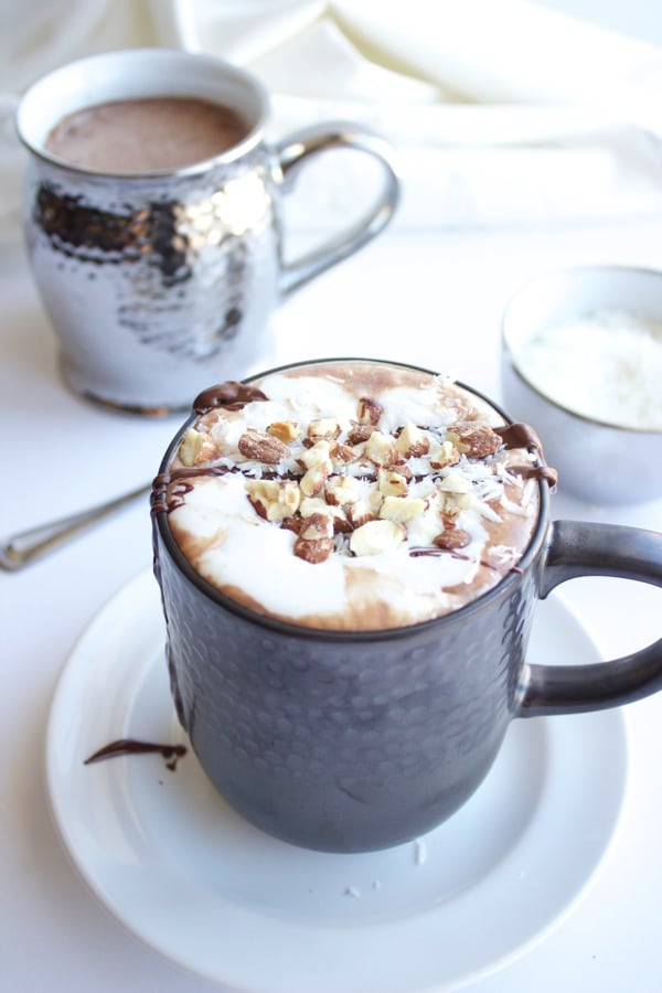 Vegan Almond Joy Hot Chocolate