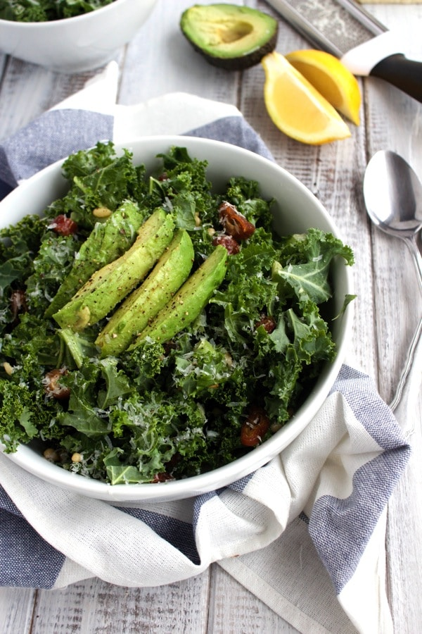 Date and Parmesan Kale Salad