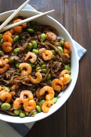 Asian Noodles with Sriracha Shrimp 3