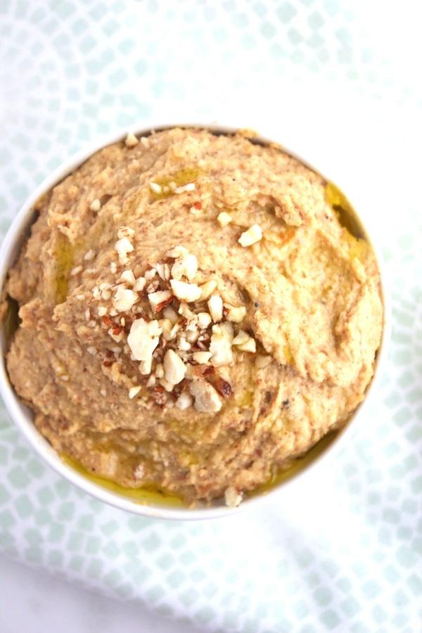 Almond Garlic Hummus 1