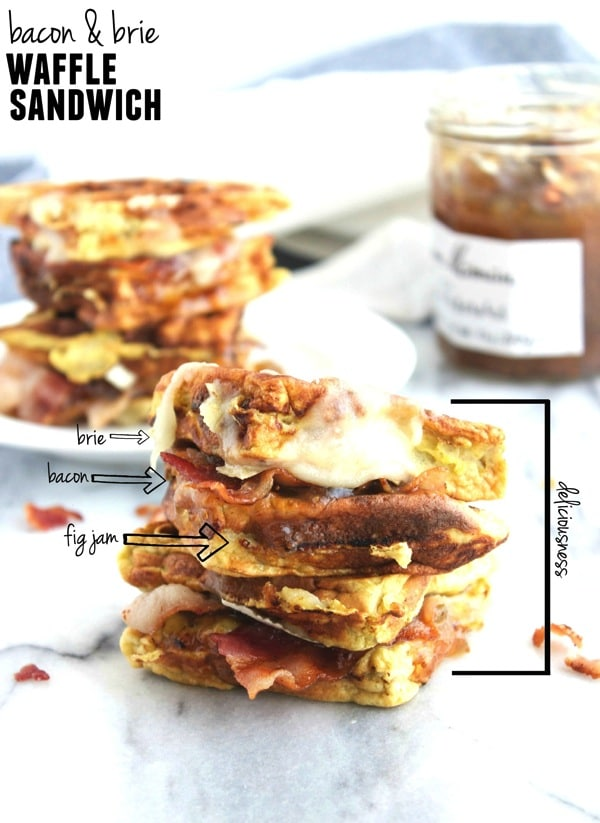 Bacon and Brie Waffle Sandwich 1111