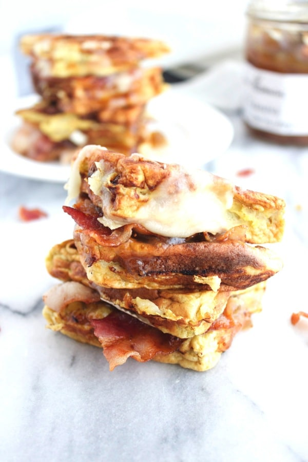 Bacon and Brie Waffle Sandwich 12