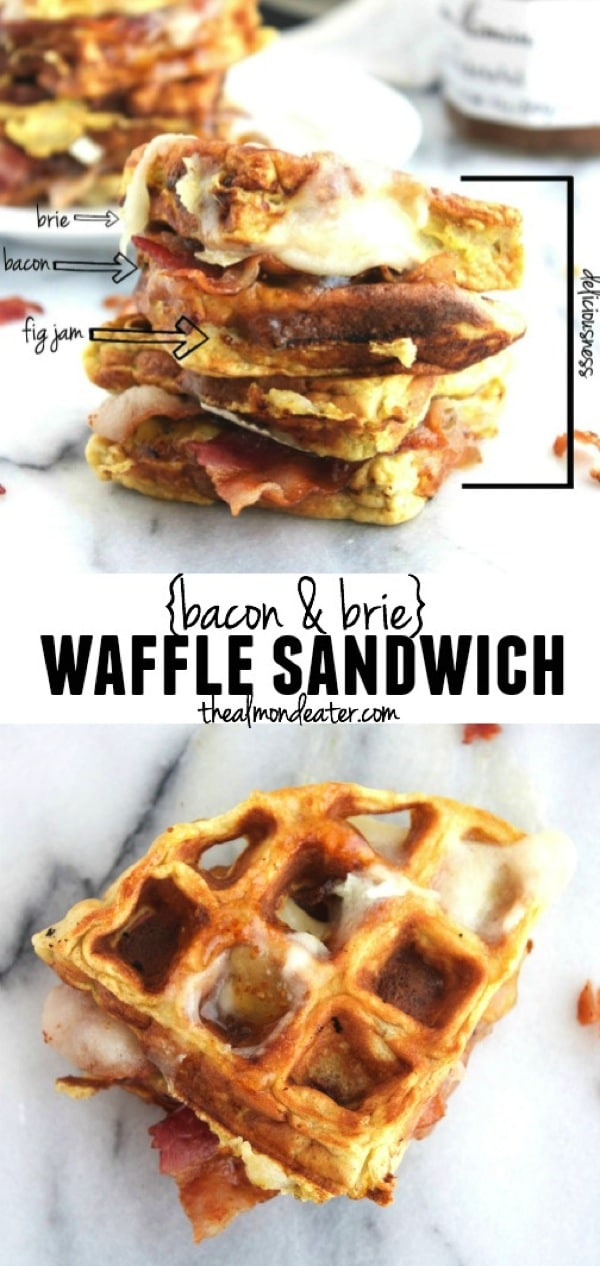 Bacon and Brie Waffle Sandwich 123