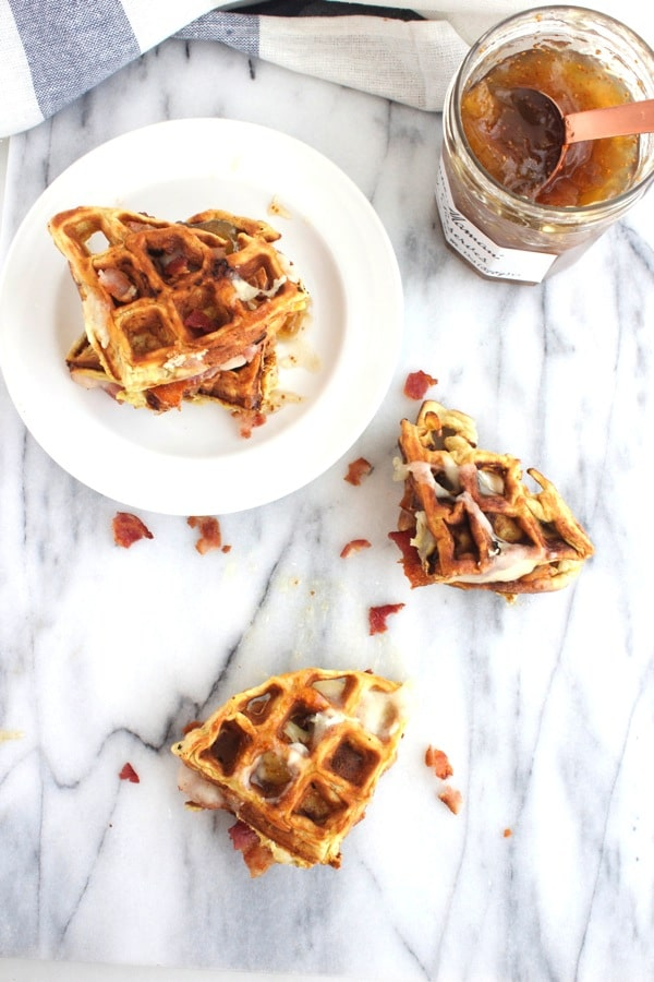 Bacon and Brie Waffle Sandwich 7