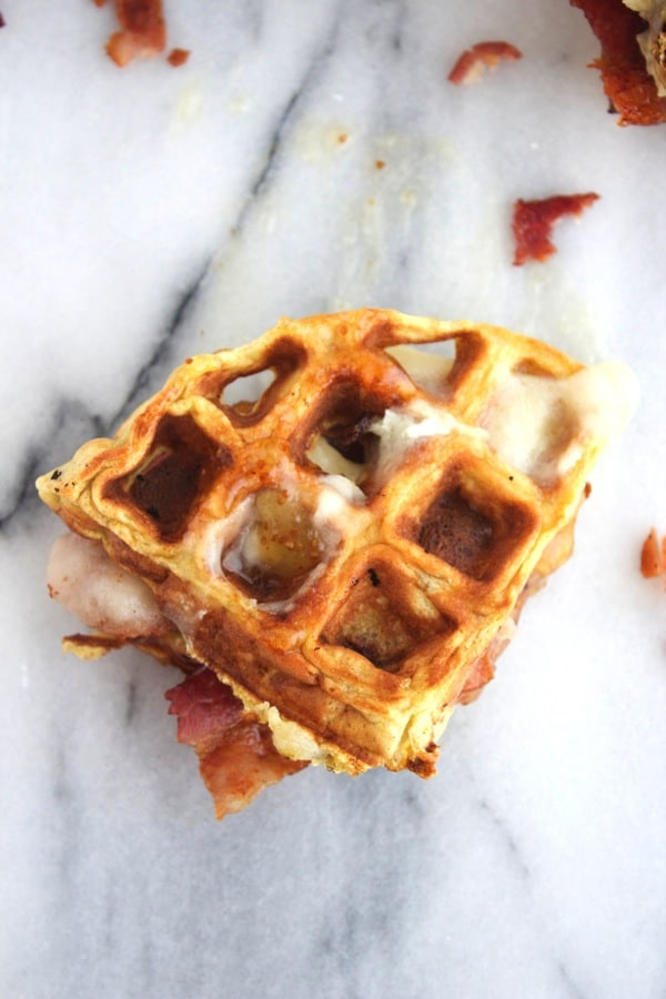 Bacon and Brie Waffle Sandwich 8