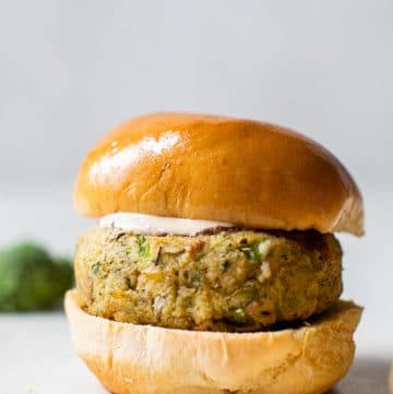 veggie burger on a burger bun