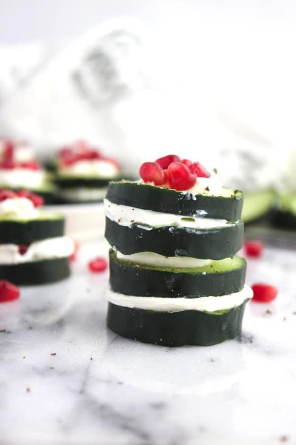 Cucumber Pomegranate Sandwich 1