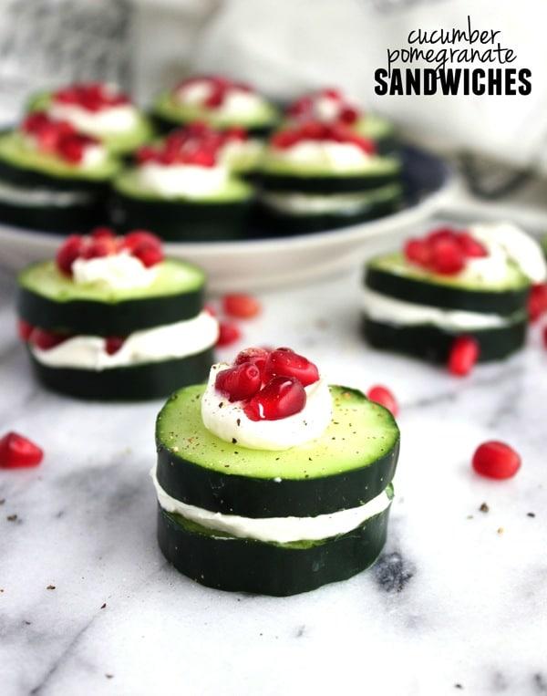 Cucumber Pomegranate Sandwiches 41