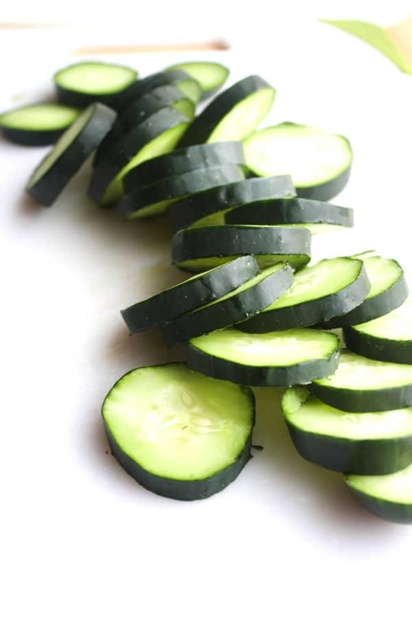 Cucumber Pomegranate Sandwiches 7