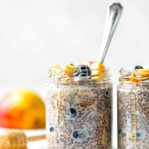 chia pudding in a jar