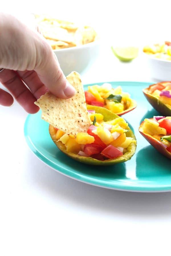 The BEST Mango Salsa 9