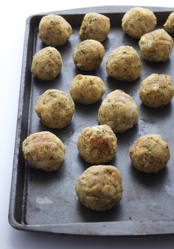 Vegan Cauliflower Quinoa Meatballs 3
