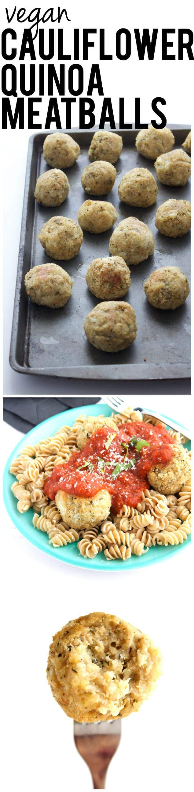 Vegan Cauliflower Quinoa Meatballs 456