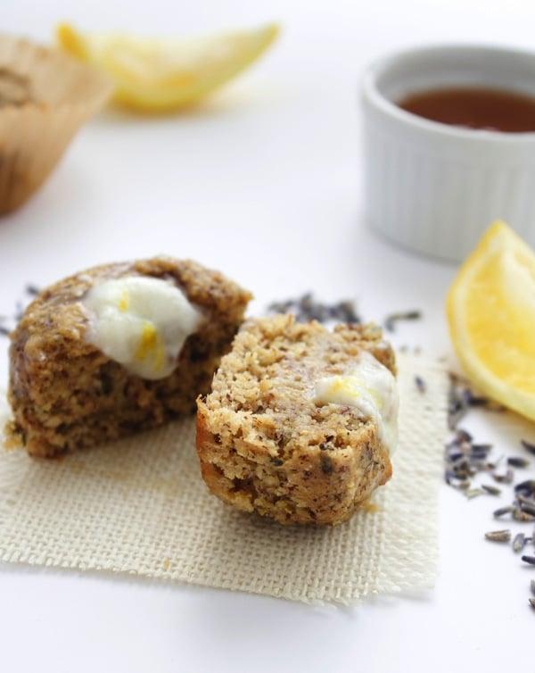 Lemon Lavender Muffins with Honey Yogurt Glaze 10