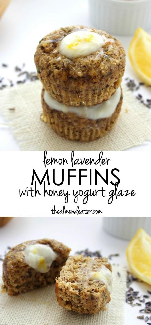 Lemon Lavender Muffins with Honey Yogurt Glaze 123