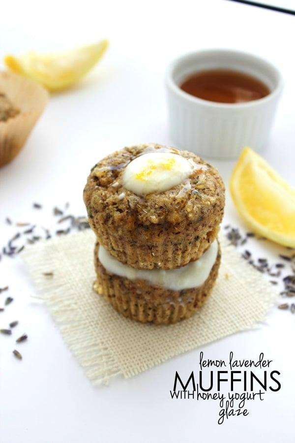 Lemon Lavender Muffins with Honey Yogurt Glaze 91