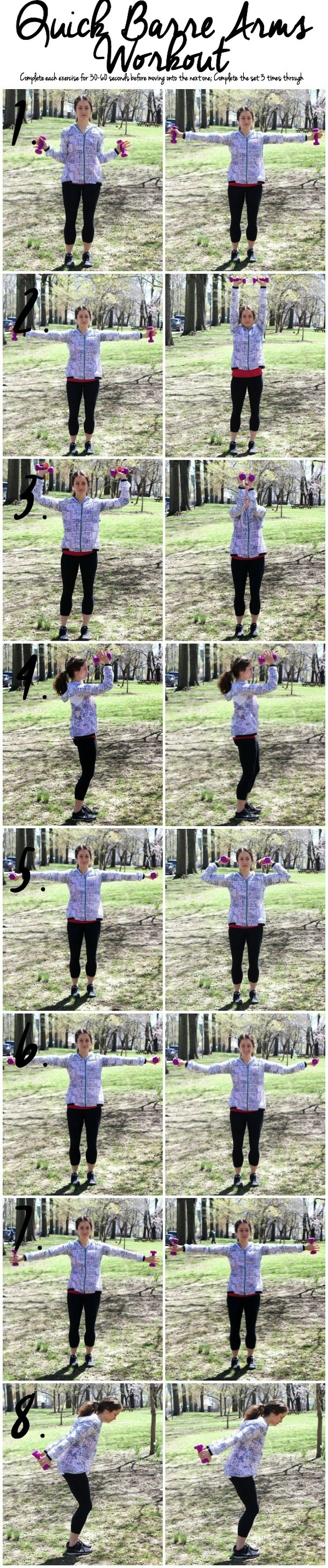 Quick Barre Arms Workout 1234