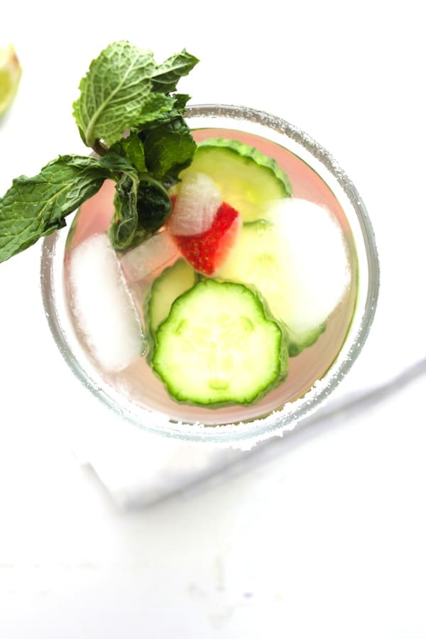 Strawberry Cucumber Cocktail 4