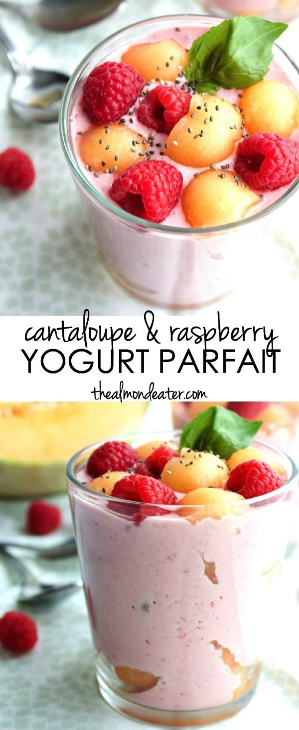 Cantaloupe and Raspberry Yogurt Parfait 123