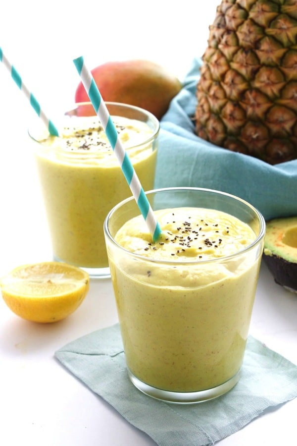 Pineapple Avocado Smoothie for Two 1