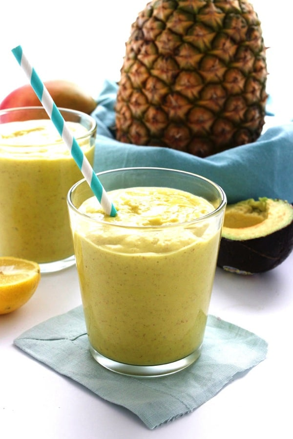 Pineapple Avocado Smoothie for Two 3