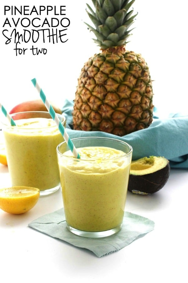 Pineapple Avocado Smoothie for Two 51
