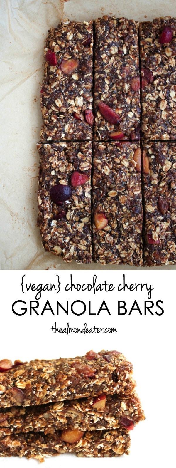 Vegan Chocolate Cherry Granola Bars 123