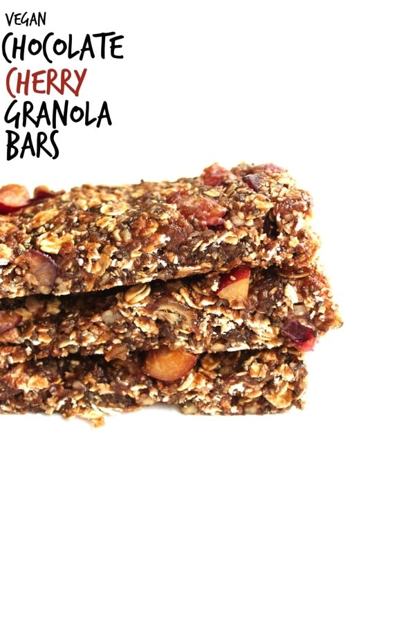 Vegan Chocolate Cherry Granola Bars 3