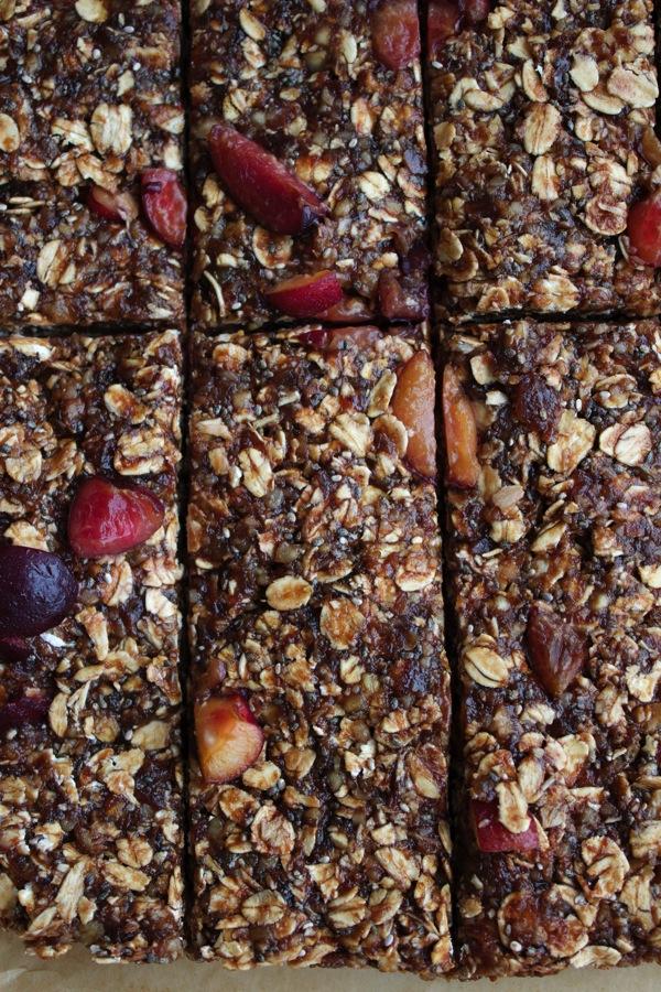 Vegan Chocolate Cherry Granola Bars 6