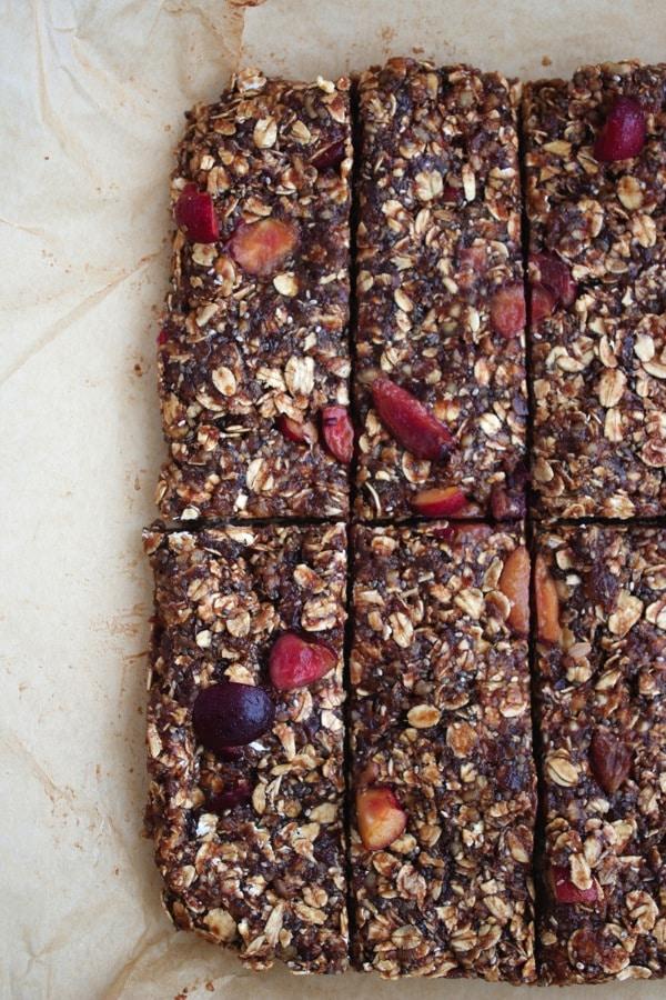 Vegan Chocolate Cherry Granola Bars 8