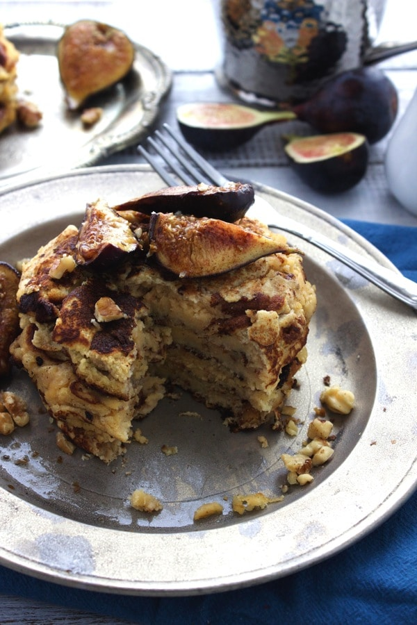Walnut and Caramlized Fig Pancakes 1