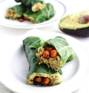 Collard Wraps with Roasted Chickpeas 4