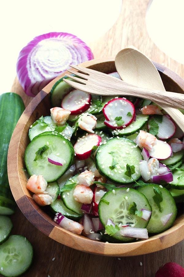 Sesame Cucumber Salad 6