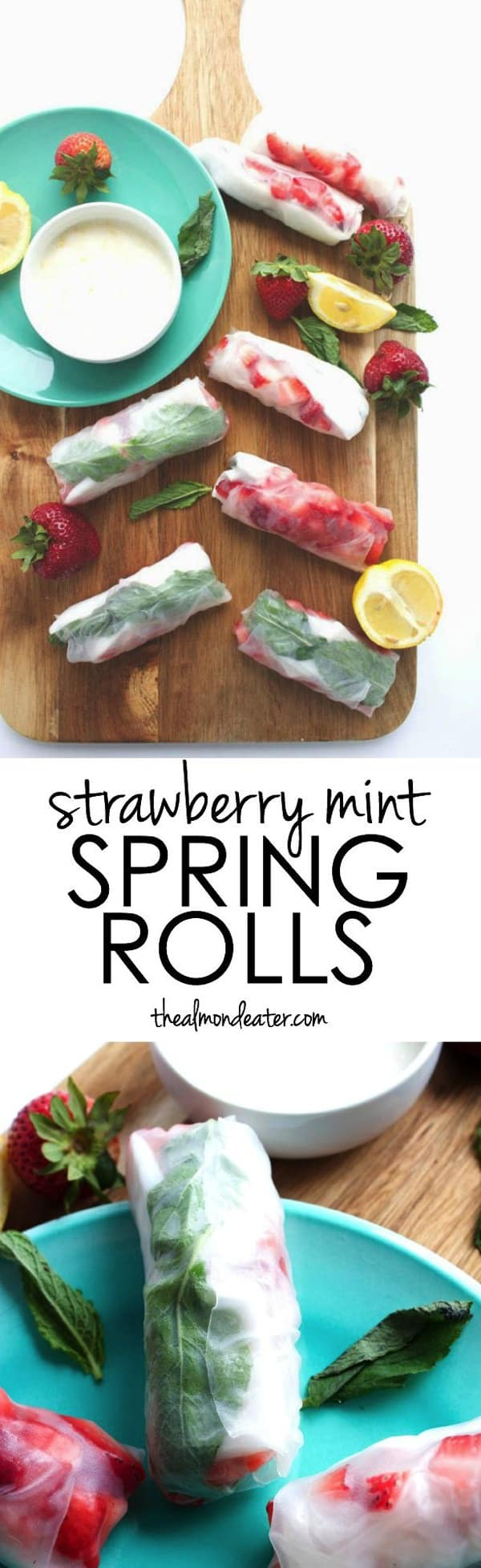 Strawberry Mint Spring Rolls 123