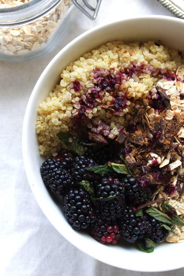 Blackberry Quinoa Breakfast Bowl 6