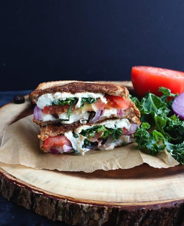Mediterranean Grilled Cheese Sandwich 8
